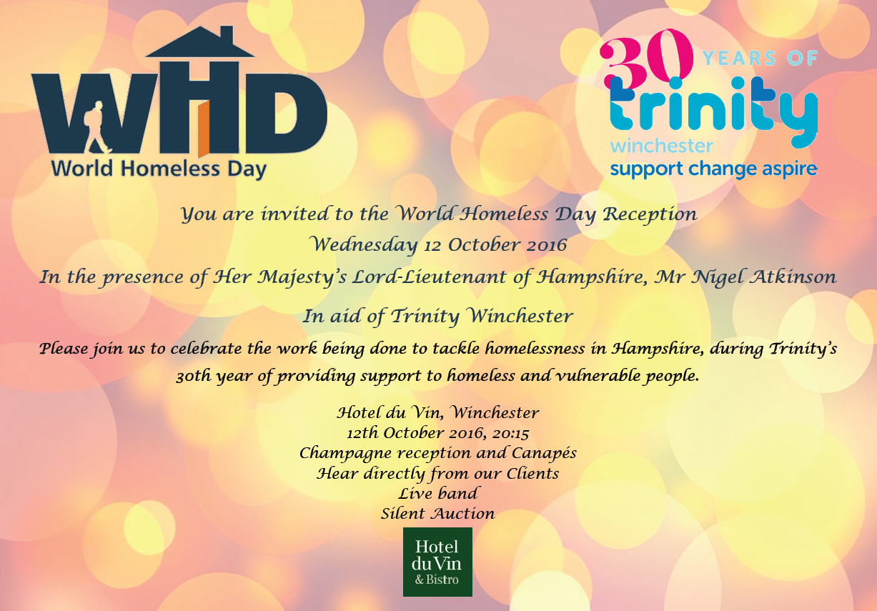 World Homeless Day Reception Invite1