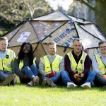 Graduates from Osborne Construction created a very technical shelter
