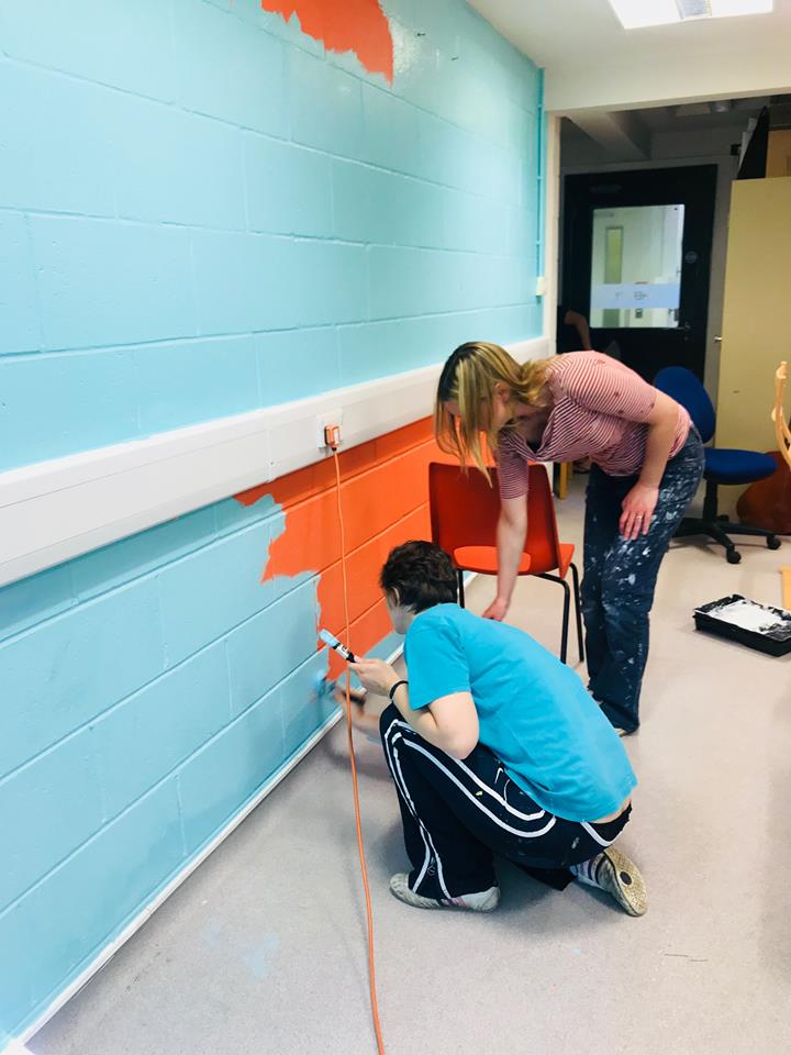 Painting our therapy room